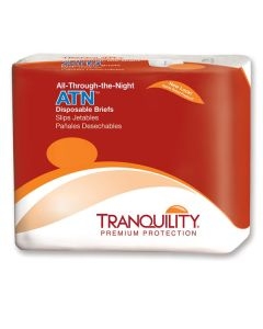 Tranquility ATN All-Thru-The-Night Disposable Brief (Plastic Backed) - XPMedical