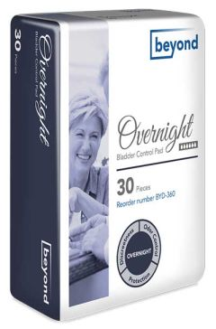 Beyond Overnight Adult Incontinence Beyond Bladder Pads - 13.25 Inch